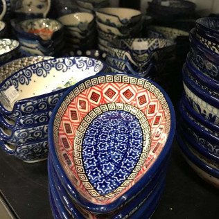 We are now carrying Polish Pottery! Stop by the shop for a sneak peek at this high quality, beautiful pottery.
